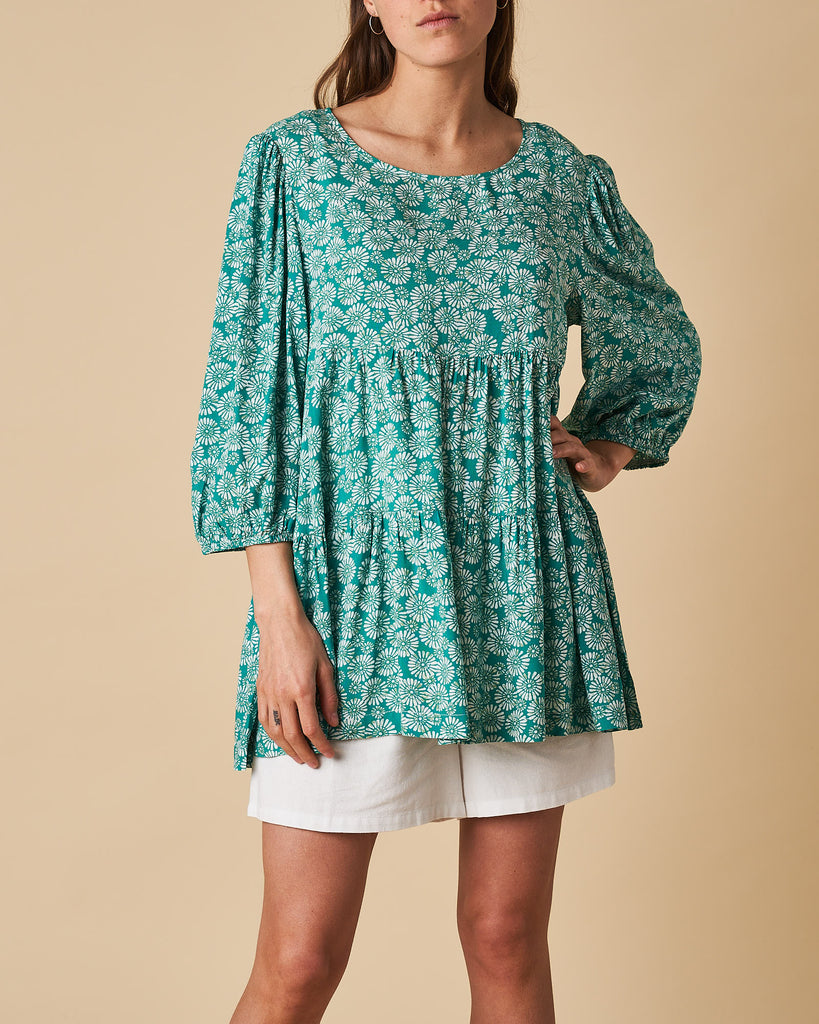 Tier 3/4 Puff Sleeve Top