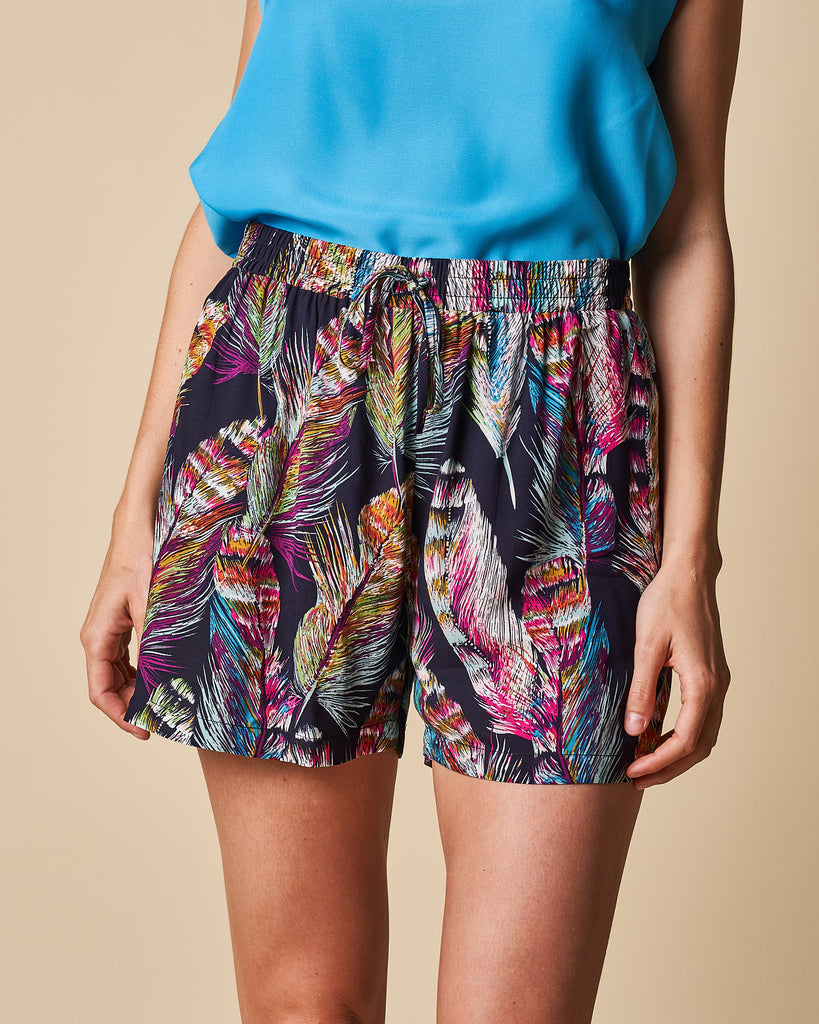Elastic Waist Short With Drawcord