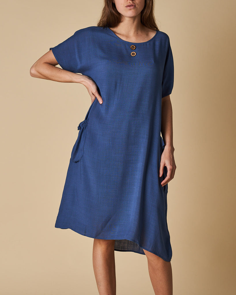 2 Pocket Dress - Denim