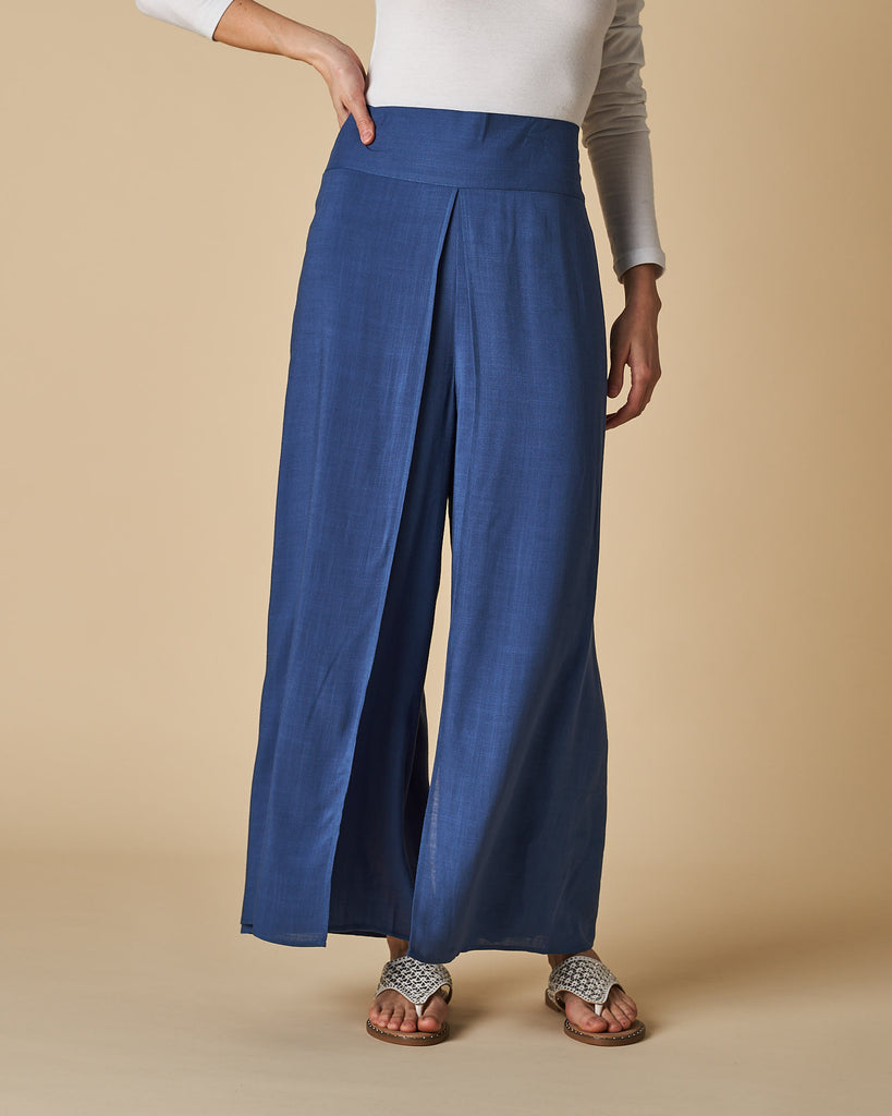 Wrap Pants - Denim