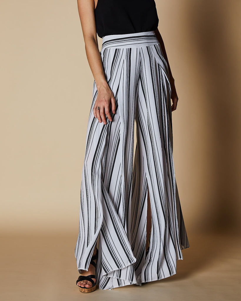 Cherry Lane | Wide Leg Pants | White