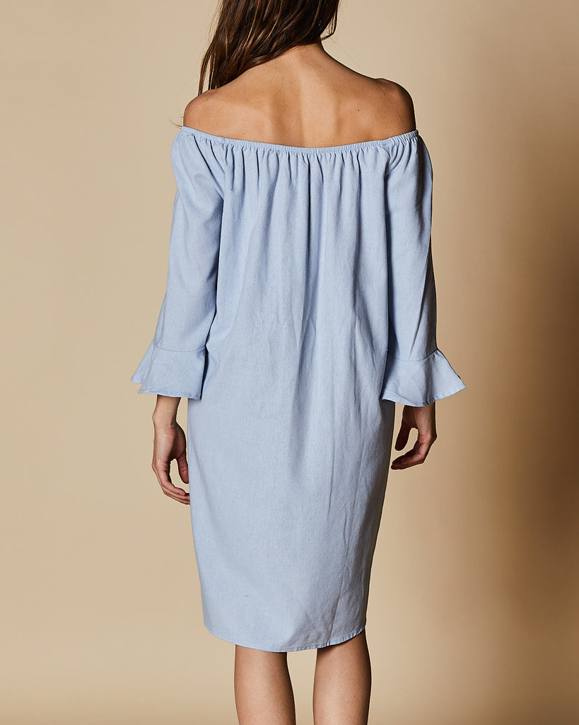 Cherry Lane | Bell Sleeve Off Shoulder Dress