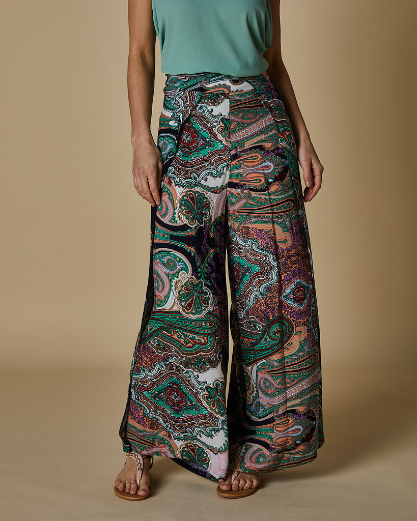 Cherry Lane | Flair Pant Wrap Around | Paisley Print