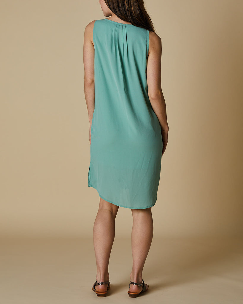 Cherry Lane | VNeck Tank Dress | Moss