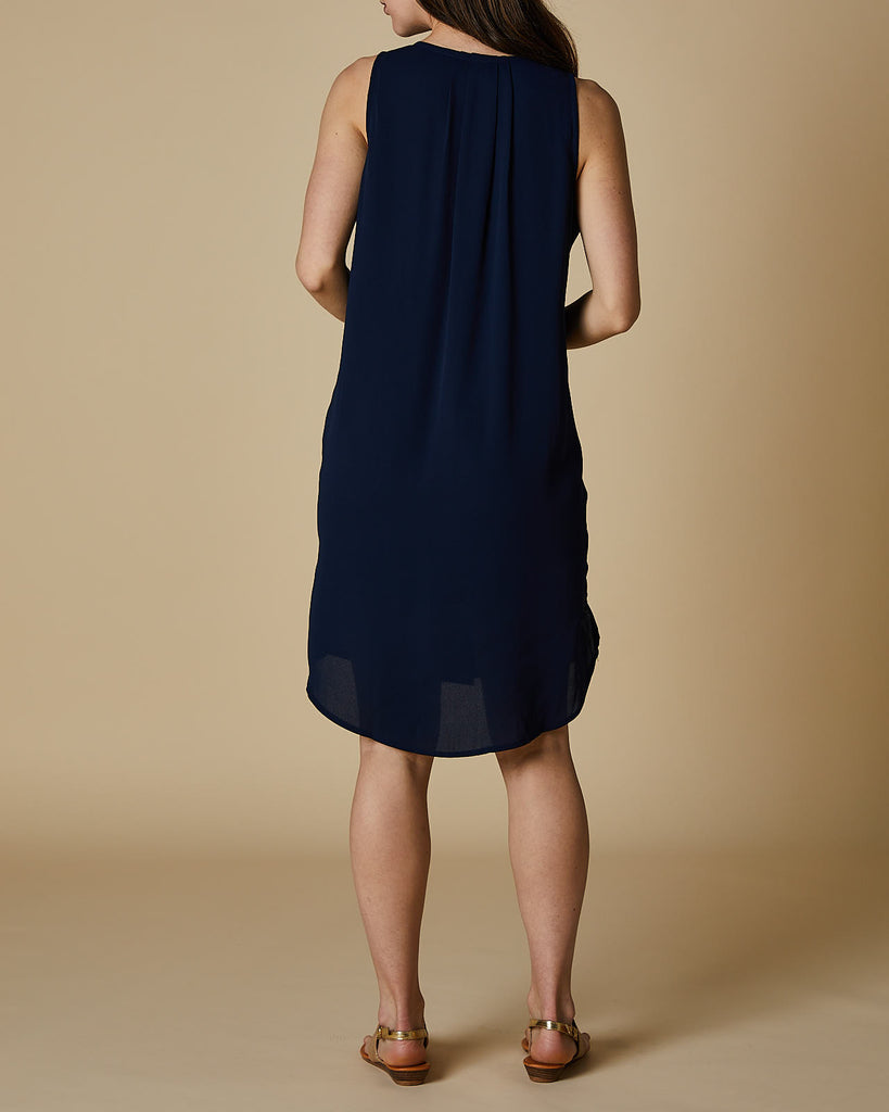 Cherry Lane | VNeck Tank Dress | Navy