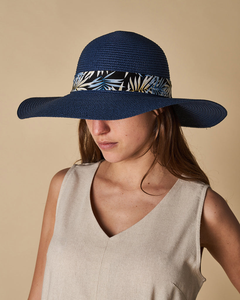 Wide Brim Hat with Details
