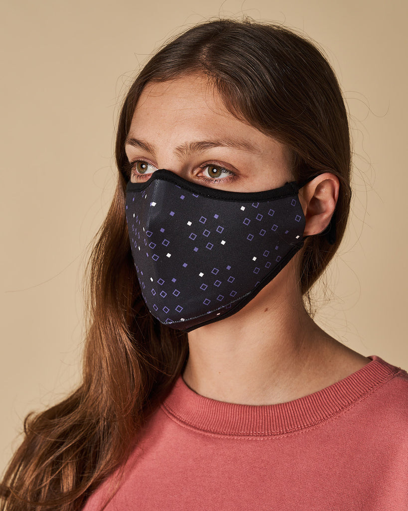 Cloth Mask - Printed Navy