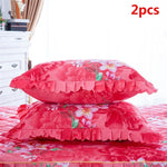Bedspread Queen Bed Skirt Thickened Sheet Single Dust Ruffle Flower Pattern