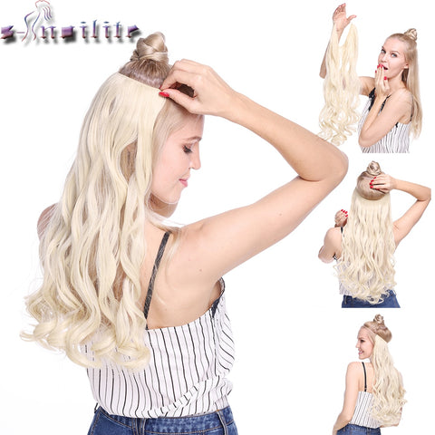 20 inch Invisible Wire No Clip One Piece Halo Hair Extensions