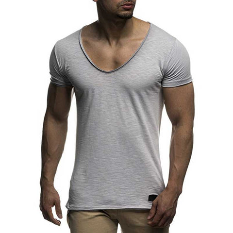 Men's V Neck Slim Fit T-Shirt