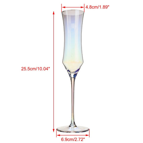 Rainbow Wine Glass, Crystal Cocktail Glasses, Champagne Flute, Brandy Glass