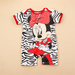 Newborn Girl and Boys Mickey Rompers Jumpsuits