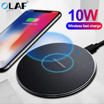 Olaf 10W Fast Wireless Charger For Samsung Galaxy S10 S9/S9+ S8 Note 10 USB iPhone 11 Pro XS Max XR X 8 Plus