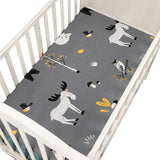 100% Cotton Fitted Crib Sheets Baby Mattress