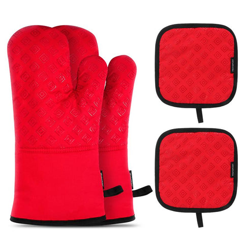 2 PCS Oven Mitts with Heat Resistant Pot Holder