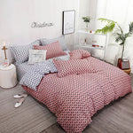 Nordic Bedding Set Twin Queen King Duvet Flat Sheet Pillowcase