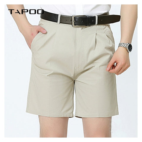 Men's Fashion Business Solid Shorts