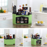 Standing Organizer Household ABS Seasoning Rack With Cutlery Holder