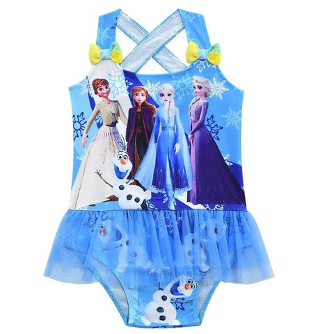Elsa & Anna Kids Swimsuit