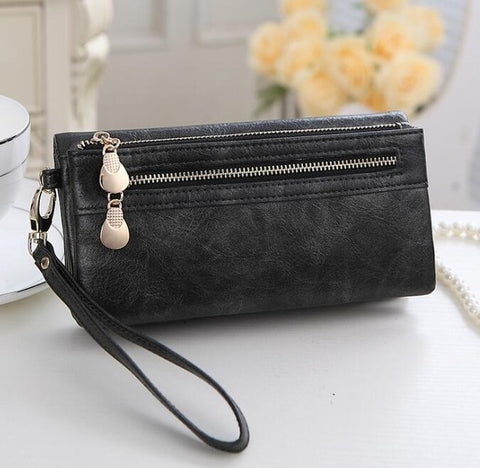 Women Clutch Zipper Wallets Big Capacity With Cell Phone Pocket