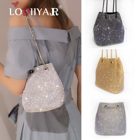 Women Clutch Evening Rhinestone Shoulder Bags