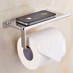 Bathroom Stainless Steel Shelf  For Toilet Paper And Phone Holder Toilet Paper Holder
