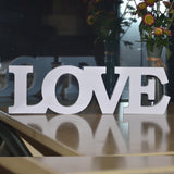 "White Wooden Letters ""LOVE"" Shaped DIY Decor"