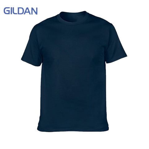 Men's Solid Short Sleeve T-shirts 100% Cotton
