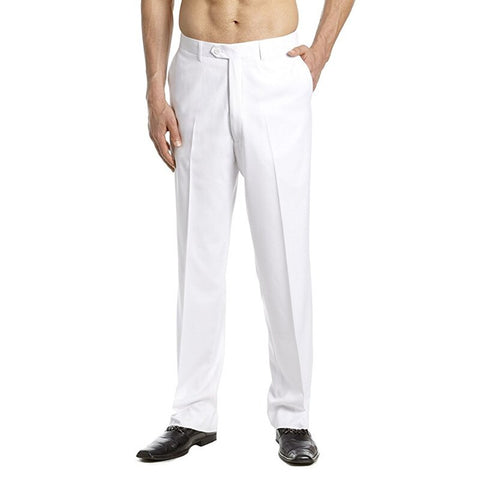 Men's Dress Pants Flat Front Slacks