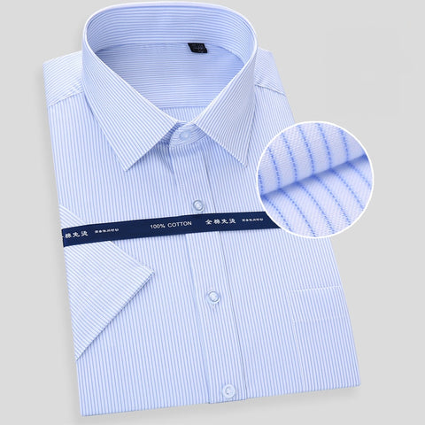 Quality Cotton Non-Iron Summer Short Sleeve Shirts