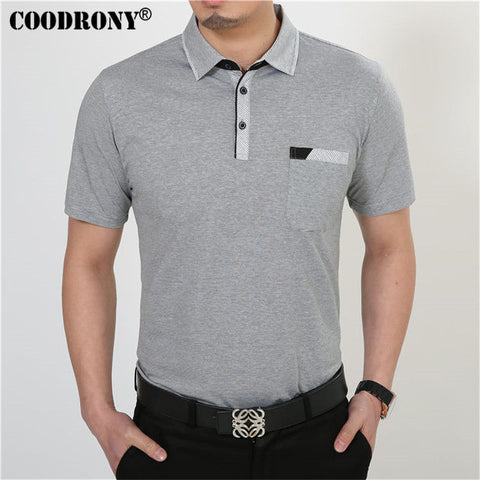 Men Short Sleeve T Shirt Cotton With Pocket Plus Size