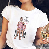 White Tee Shirt Super Mom