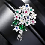 Luxury Beautiful Colored Austria Crystal Brooch