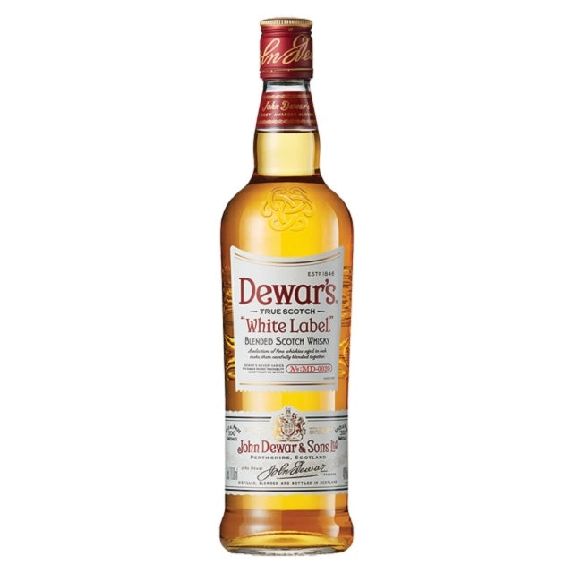 Dewars Blended Scotch Whisky, White Label, 1L