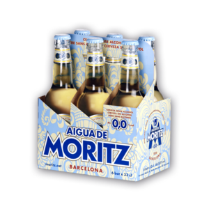 Aigua de Moritz 0.0% alcohol beer, 4 pack 330ml, Spain
