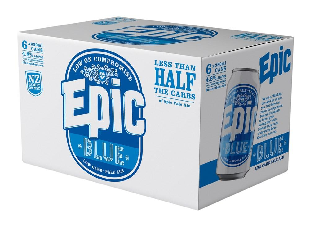 Epic Blue 6 pack 330ml cans