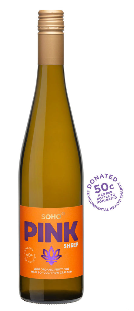 SOHO Pink Sheep Organic Pinot Gris 2020, Marlborough