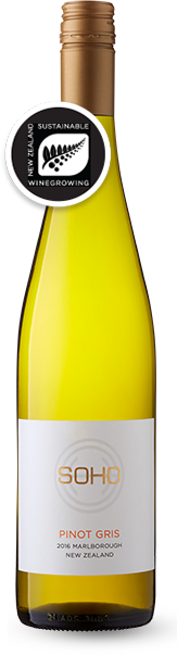 SOHO Ziggy Pinot Gris 2019, Marlbourough