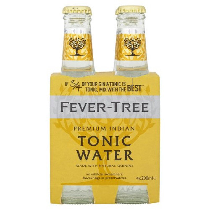 Fever-Tree Premium Tonic water, 4 pack 200ml