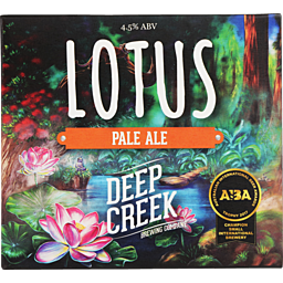 Deep Creek Lotus Pale Ale, 6 pack cans
