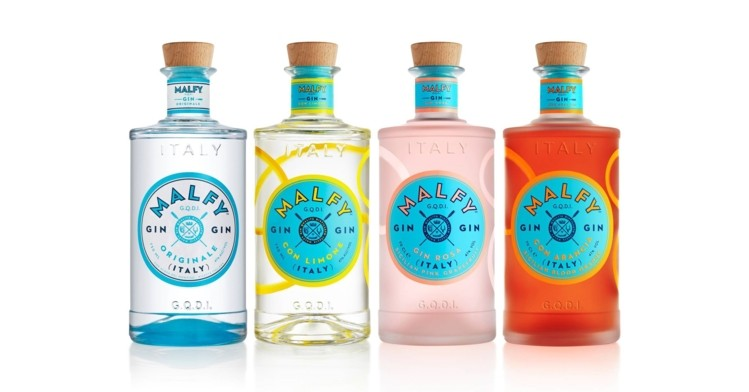 Malfy Gin - Originale, Limone, Arancia or Rosa - 700ml