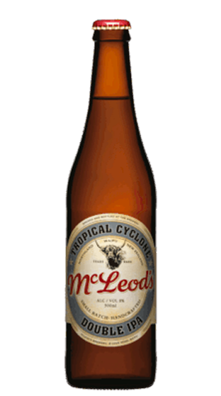 McLeods Tropical Cyclone Double IPA, 500ml bottle
