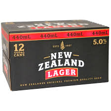 NZ lager 440ml dozen cans