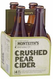 Monteiths Crushed Pear cider, 4 pack 330ml bottles