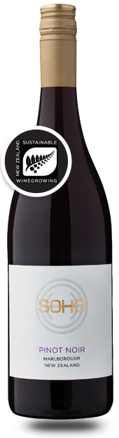 SOHO Pinot Noir White Label, 2018, Upper Wairau Valley