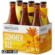 Monteiths Summer Ale, 6 pack 330ml