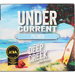 Deep Creek Undercurrent Pilsner, 6 pack cans