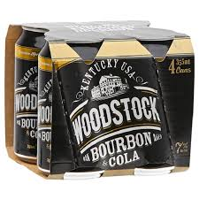 Woodstock Bourbon & Cola 7% 4 pack 355ml cans