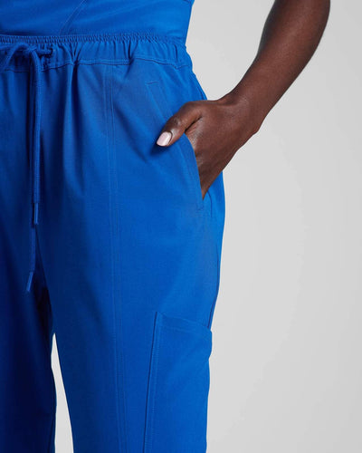 Fashion scrub pant in blue