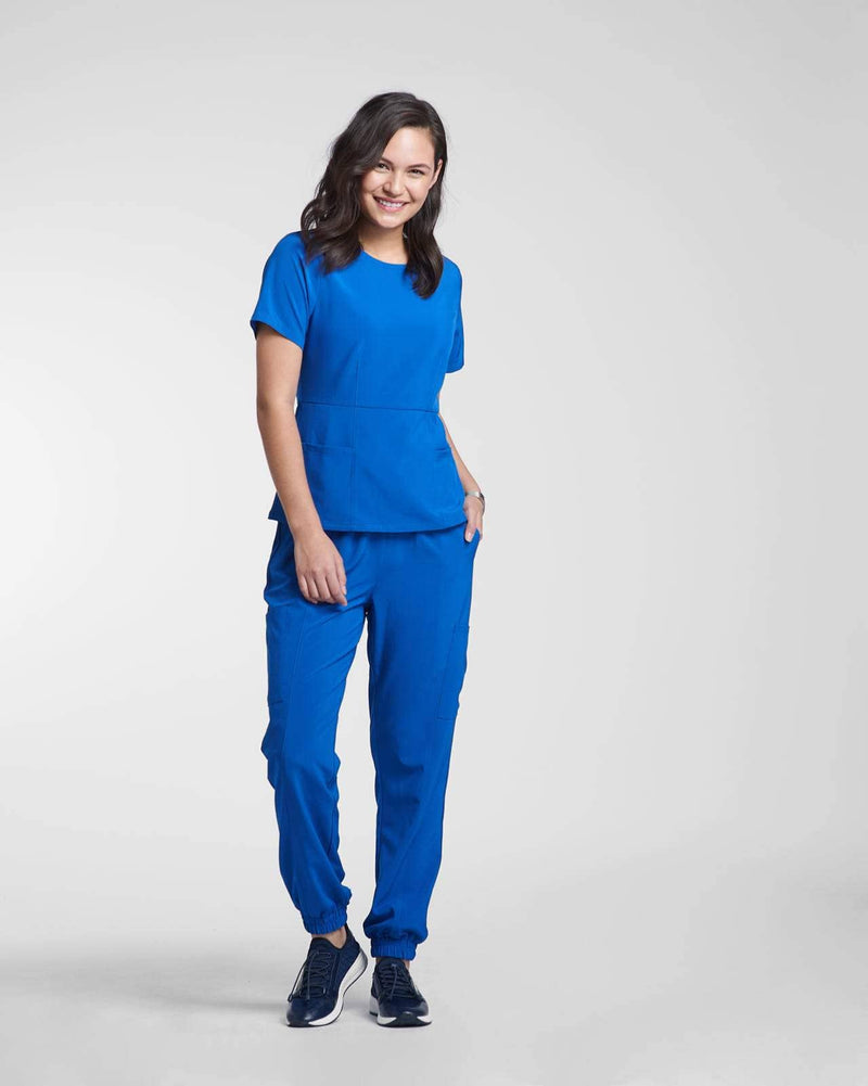 Fashion scrub top in blue